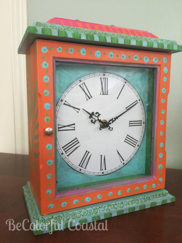 Be colorful coastal clock front