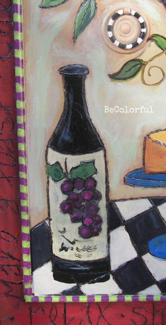 Wine cab close up of wine bottle