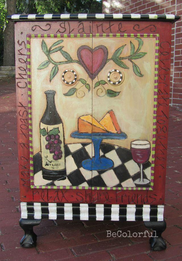 Wine cab front doors closed